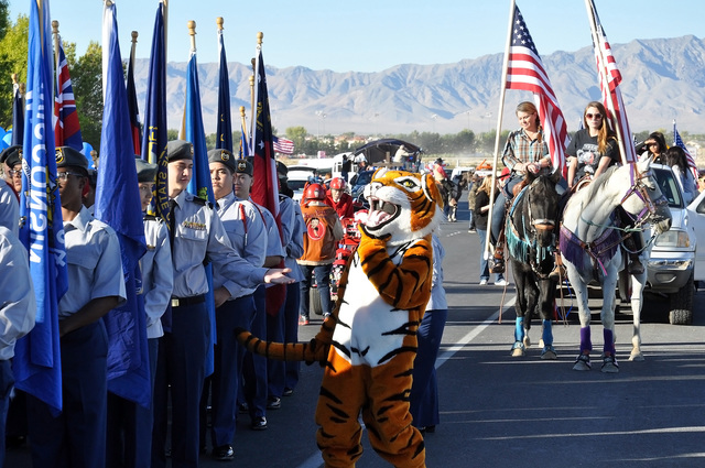 Parade participants gather for the start of the annual Fall Festival parade in September. Events like the Fall Festival help drive tourists to the valley.  Horace Langford Jr./ Pahrump Valley Times