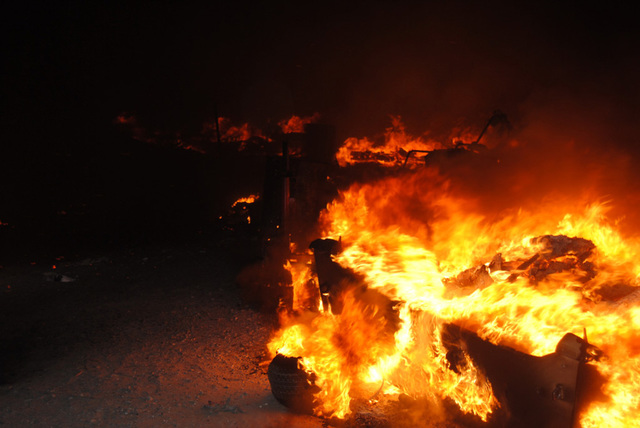 Pahrump fire crews, hampered by high winds, responded to an early morning structure fire along Quail Run Road this past Monday. The fire destroyed a motorhome, at least two travel trailers, boats  ...