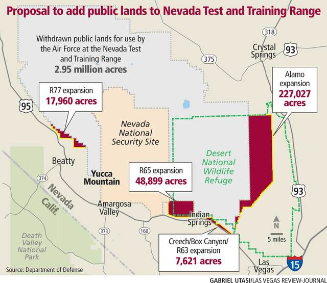 Nevada Test Range called 'critical' to U.S. military