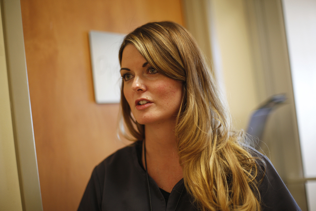 Chandra Anderson, registered nurse and director of the emergency room at Desert View Hospital, earlier this month. The hospital has 25 emergency room nurses that have seen nearly 16,000 patients t ...