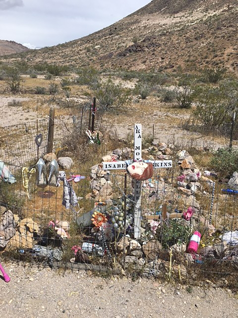 A recent photo of Mona Bell's grave this year, east of what was once a busy red-light district and south of the ruins of the old jailhouse that housed her killer.   Helene Campton/Special to the ...