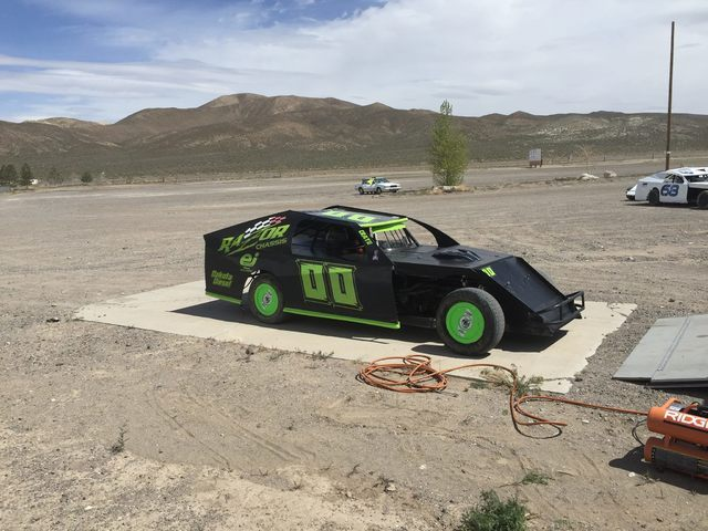 Special to the Pahrump Valley Times Cory Sample's 00 car in Tonopah for the Jim Marsh Classic. Sample took both days and walked away $2,000 richer.