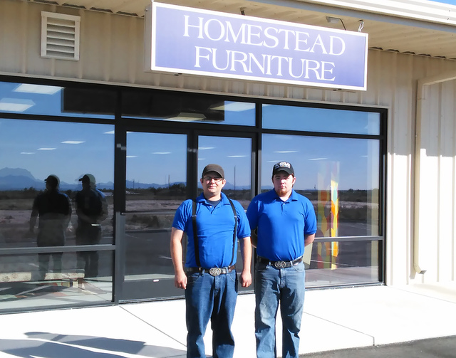Homestead Furniture owners Maverick and Kody Snowdon are looking forward to brisk business during the upcoming holiday season. The brothers opened their 3271 Homestead Road business last Friday, t ...