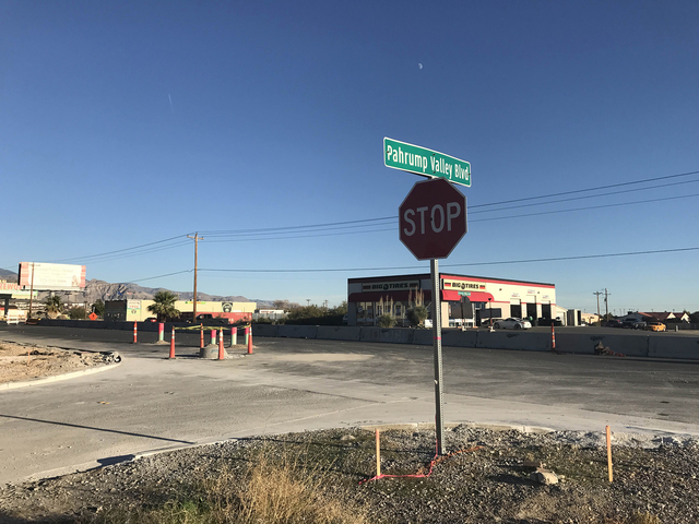 The Nevada Department of Transportation set an approximate delay 30 days for survey time time before construction could resume on two roundabout projects on Highway 372.  Mick Akers/Pahrump Valley ...