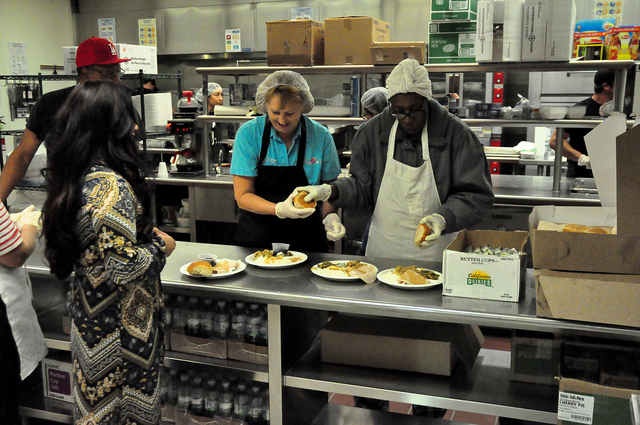 Horace Langford Jr. / Pahrump Valley Times  Pahrump's Holiday Task Force will host the annual free Community Thanksgiving Dinner on Nov. 24 at the NyE Communities Coalition activities center fro ...