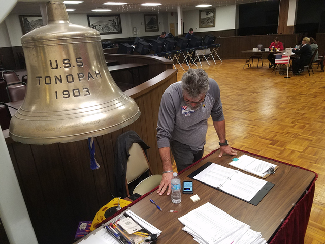 A look inside the Tonopah Convention Center on Nov. 8 as Election Day voting took place. Besides state and national races, town residents cast ballots for the town board election.  David Jacobs/Ti ...