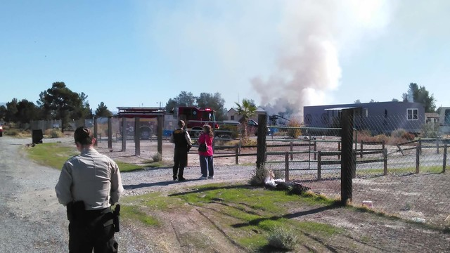One person was transported to Desert View Hospital after a travel-trailer fire on Dollar Street just after 10 a.m. on Monday, Nov. 14. Fire crews had the fire under control within minutes. The ini ...