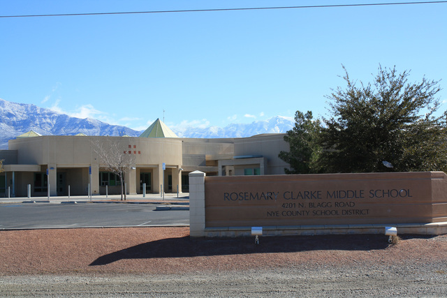 A Nye County School District student was arrested at Rosemary Clarke Middle School yesterday for bringing a gun onto campus.   Special to the Pahrump Valley Times