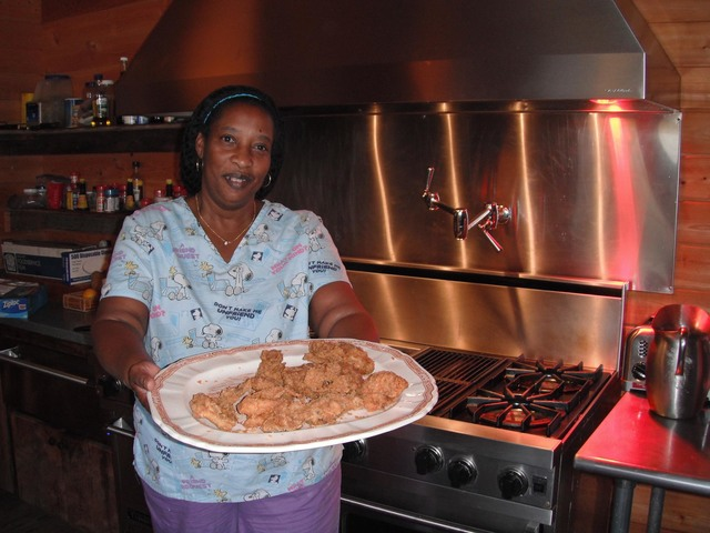 Real Southern fried chicken, a favorite of visitors to the Ford Farm lodge, is one of the many authentic touches offered at the Georgia hunting adventure. Dan Simmons/Special to the Pahrump Valley ...