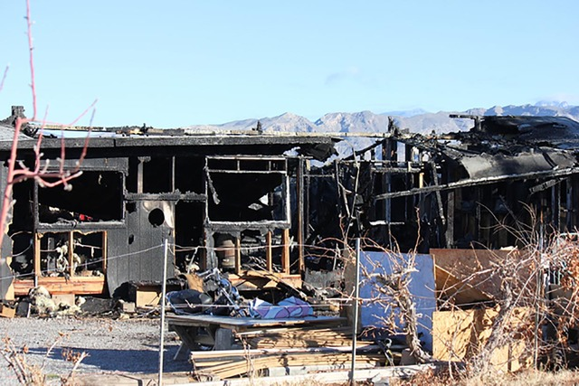 The last structure fire on Christmas was on Doubletree Road in 2014. Special to the Pahrump Valley Times