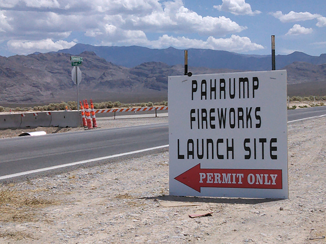 The Pahrump Fireworks Launch Site will be open Friday and Saturday, 6 p.m. to midnight, for New Year's celebrations.  Special to the Pahrump Valley Times