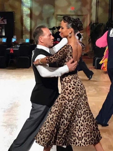 Gary Miller and his instructor Sophia Konstantinova tear up the dance floor doing the tango at the Nevada Holiday Dance Classic on Dec. 8 at the Tropicana Hotel in Las Vegas. Miller has only been  ...
