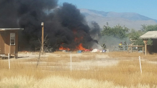 Pahrump fire crews were forced to split up assignments after windy conditions cause a structure fire to jump to adjacent properties early Monday afternoon. No injuries were reported as a result of ...