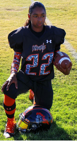 This is Kobe Hendricks, who had four TDs Saturday in the 39-0 win against the Junior Trojans 12U team. His first game was in Pahrump back in 2012 when he was seven years old. Now he's 11 years o ...