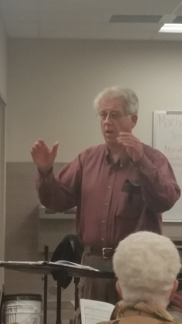 Conductor Andy Barnum of the High Desert Chorale has been directing this group for 13 years. The group will perform for a donation at the Pahrump Nugget Event Center on Dec. 7 at 7 p.m. All you ne ...