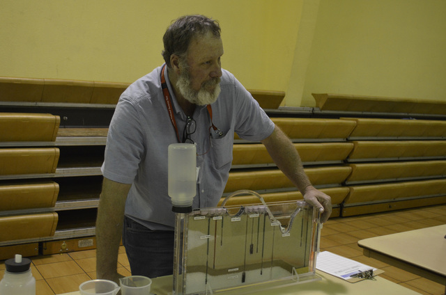 The seventh annual Groundwater Open House took place in Amargosa Valley on Tuesday. A number of scientists were on hand to present information to residents about water testing in Nye County.  Dari ...