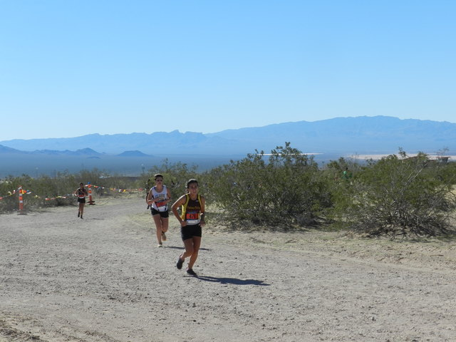 Tammi Odegard / Special to the Pahrump Valley Times Alicia Quiroz running last year at regionals at Boulder City.