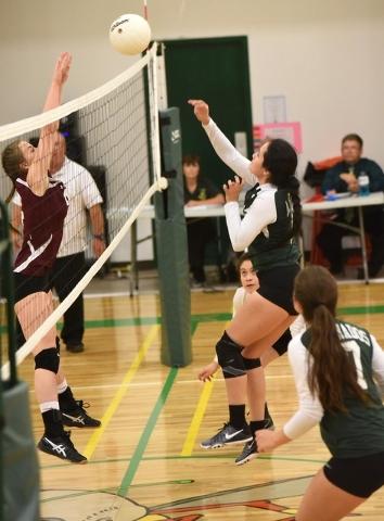 Beatty girls volleyball captures Trona Tournament, start season 8-1