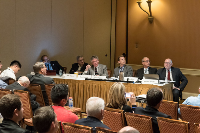 """The American Nuclear Society held a panel titled """"Yucca Mountain - Is there a pulse?""""during its winer meeting and expo at Caesar's Palace on Nov. 7. Courtesy of the American Nuclear Society"""
