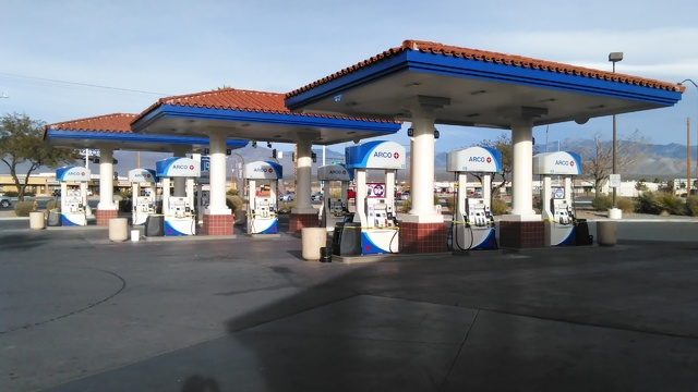 Gas pumps are getting ready for operation as the Rebel convenience store and fueling station at Basin Road and Highway 160 is now an ARCO station and convenience store. Selwyn Harris/Pahrump Valle ...