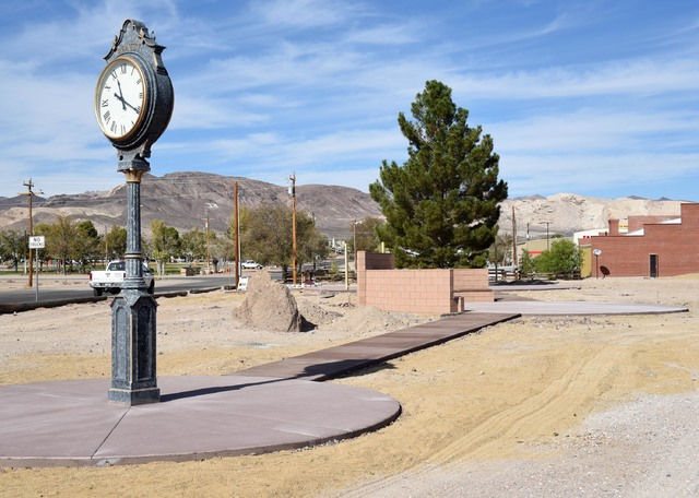 Beatty leaders don't seem ready to approve a request to spend $2,500 for Christmas decorations to beautify the unfinished town square. Richard Stephens/Special to the Pahrump Valley Times