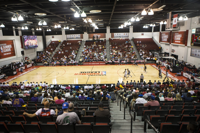 Cox Pavilion, which seats 2,500 for basketball as seen for a 2016 NBA Summer League game, will be the site for the Class 4A and Class 3A state tournaments this week, as well as the site of the Cla ...
