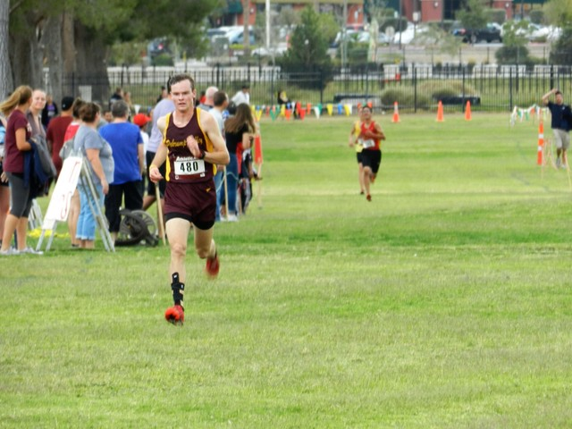 Special to the Pahrump Valley Times Bryce Odegard captures the 3A Southern Region title and sets a personal record,