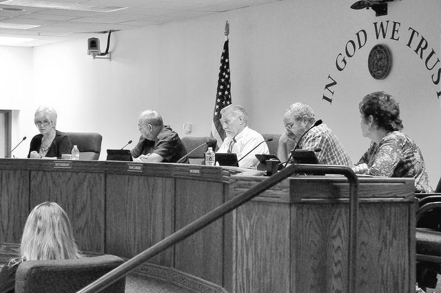 Horace Langford Jr. / Pahrump Valley Times - County Commissioners agonize over the fate of the water board.