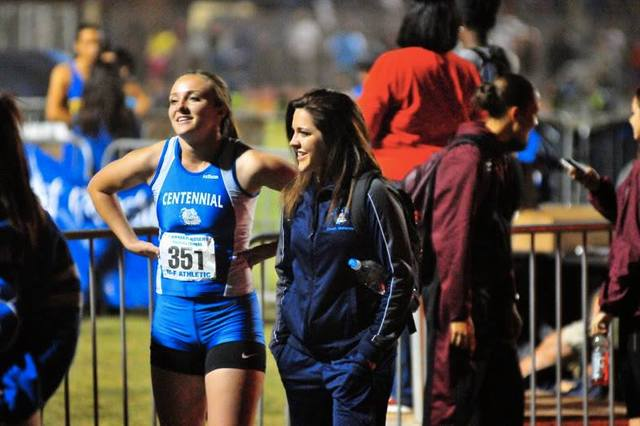 McKenzie Dean served as an assistant coach for Centennial High School in Las Vegas in 2013 and 2014, and won eight state championships during her career.  Special to the Pahrump Valley Times