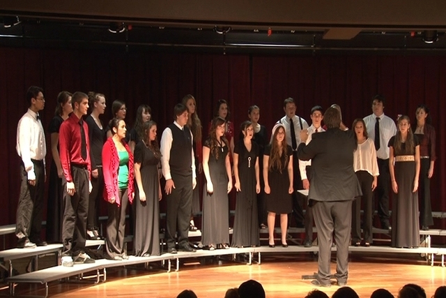 Students at Pahrump Valley High School perform holiday-themed songs during a past Christmas concert. The school has also scheduled two concert performances, tonight and Thursday, at 6:30 p.m. Both ...