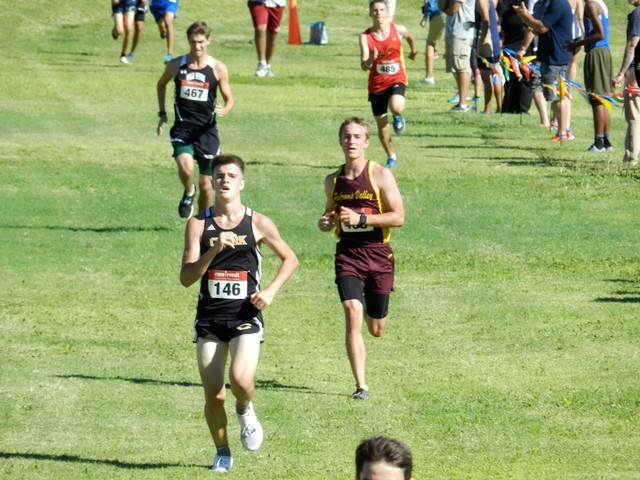 Tami Odegard / Special to the Pahrump Valley Times   Junior Cole Goodman runs a good race, finishing the 5,000 meter course in 19 minutes, 27 seconds last Saturday at Palo Verde High School in Las ...