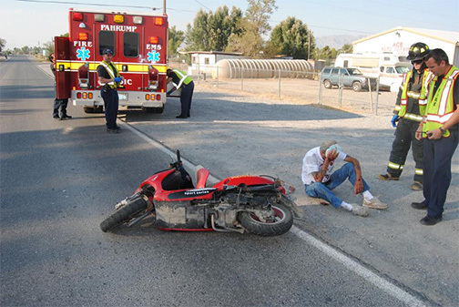 Rollovers, moped spill occupy first responders