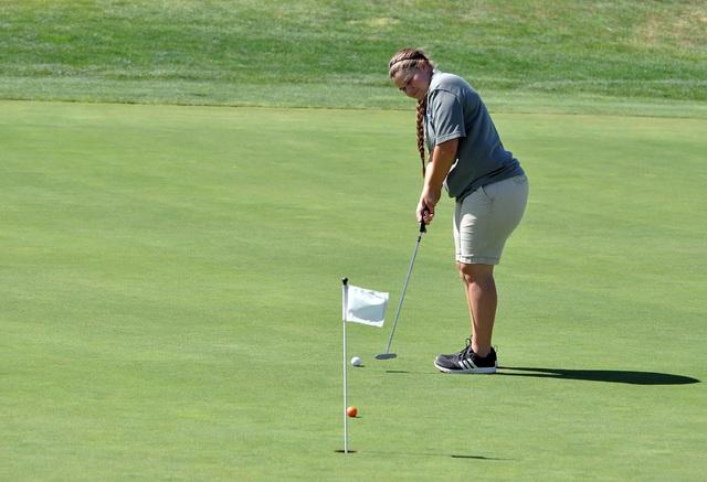 Horace Langford Jr. / Pahrump Valley Times - PVHS Girls Golf