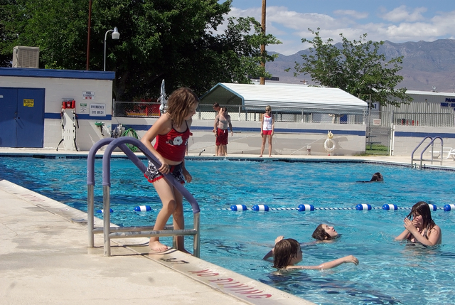 Horace Langford Jr / Pahrump Valley Times - Community pool