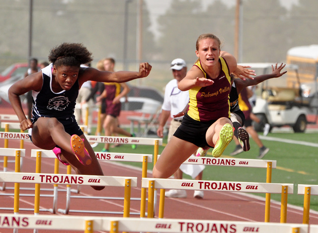 Horace Langford Jr / Pahrump Valley Times - PVHS Track, Meghan McDermott