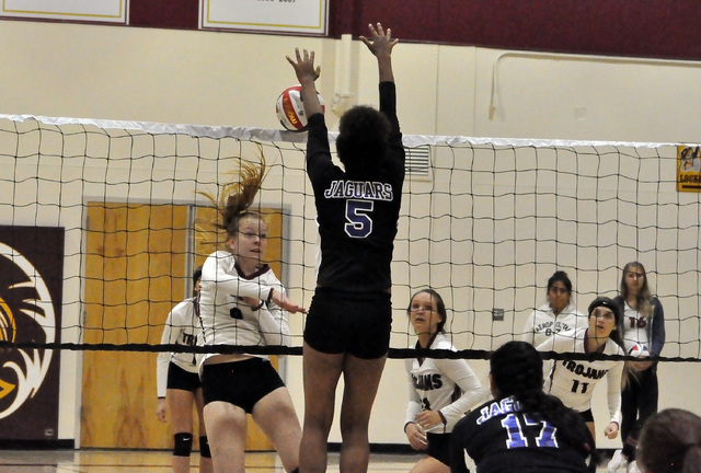 Horace Langford Jr. / Pahrump Valley Times - PVHS Volleyball vs Desert Pines, #9.