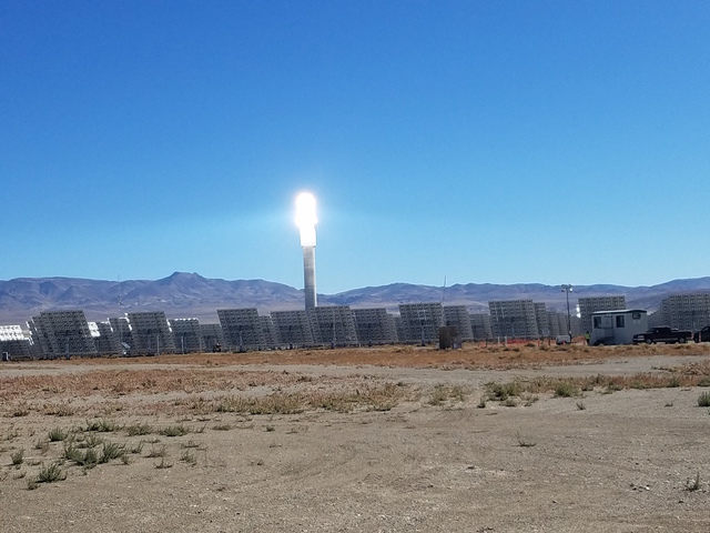SolarReserve's Crescent Dunes solar plant in Tonopah is offline, a shutdown triggered by a salt spill. Company officials said the spill poses no danger to workers or the environment.  David Jacobs ...