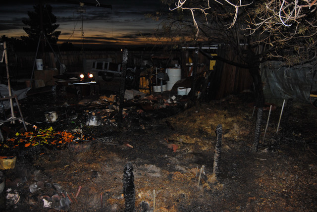 A compost pile is thought to be the cause of a backyard fire along the 3800 block of Ophir Street on Thursday. Upon approach firefighters witnessed flames rising upwards of 25 feet into the air. T ...
