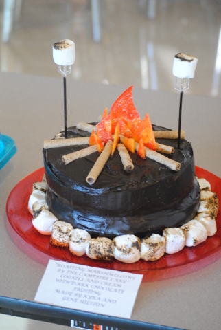 """Charlotte Uyeno / Pahrump Valley Times The cake auction also produced this scrumptious delight. This cake is called """"Roasting marshmellows"""", by Kyra and Gene Hilston."""