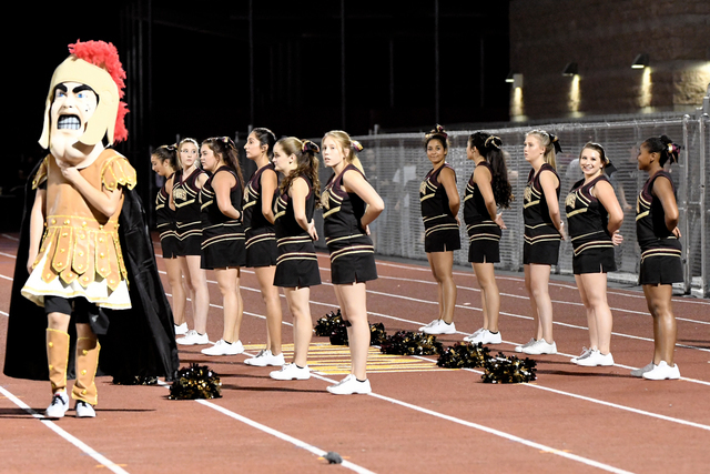 Peter Davis / Special to the Pahrump Valley Times Trojans cheer squad stands proudly at the Del Sol game.