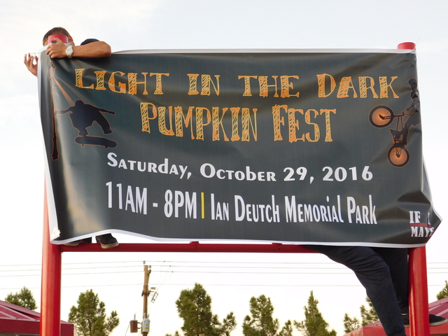 Special to the Pahrump Valley Times The Light in the Dark Pumpkin Festival banner at Ian Deutch Park.