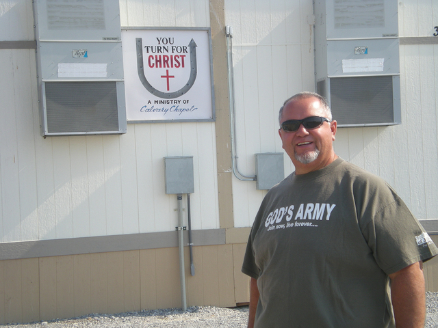 Calvary Chapel Pastor John Jimenez stands in front of his dream, the new Nevada U-Turn for Christ, a project he has poured three years into. It is ready and waiting for new residents.  Vern Hee/ P ...