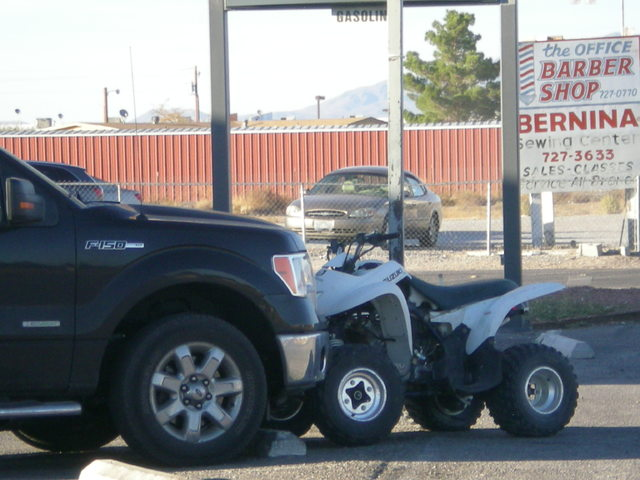 A quad rider was flown to UMC Trauma after a collision with a Ford F-150 pickup truck at the Shell gas station on Pahrump Valley Boulevard and Manse Road just before 5 p.m., on Wednesday afternoon ...