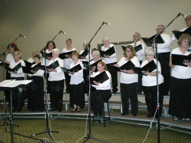 Special to the Pahrump Valley Times The High Desert Chorale sings their hearts out on Wednesday night at the Pahrump Nugget Event Center to a packed crowd, spreading Christmas joy with every breathe.