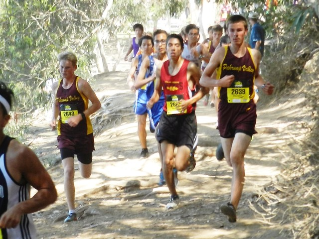 Special to the Pahrump Valley Times Grant Odegard (left) and Jacob Cipollini run together at the Central Park Invitational in Huntington Beach, California.