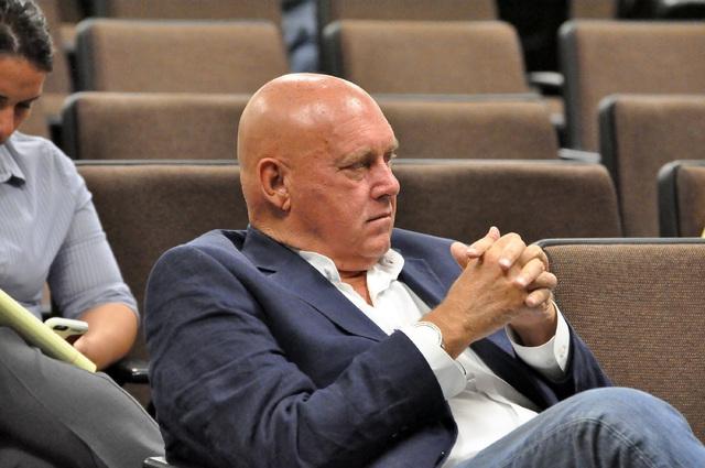Horace Langford Jr. / Pahrump Valley Times - County Commission meeting Sept. 6, brothel owner Dennis Hof.