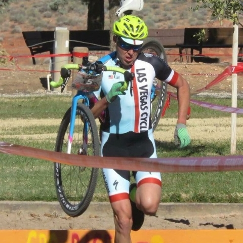 Special to the Pahrump Valley Times Steve Clausse,  competing in a cyclocross event in St. George, Utah. Clausse is helping organize the Nevada Cyclocross state championship in Beatty this year.