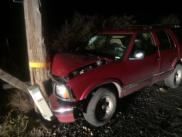 Four male juveniles sustained varying degrees of injuries after crashing into a power pole along Blosser Ranch Road early Saturday morning. One of the occupants was flown to UMC Trauma in Las Vega ...