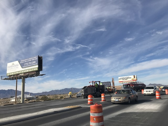 The Nevada Department of Transportation said despite being about 95 percent complete, the $3.49 million widening project on Highway 160 in town, which began on June 20, will be completed in the sp ...