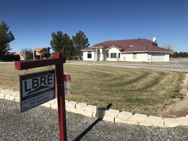 Single-family residential units like the one seen for sale here at 390 W. China Street, sold at a better pace in 2016. Pahrump saw 449 homes sold last year, up from the 409 homes sold in town in 2 ...